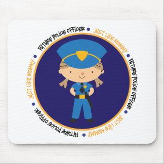 Police Girl Like Daddy Mouse Pad