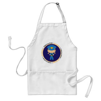 Police girl like Mommy Adult Apron