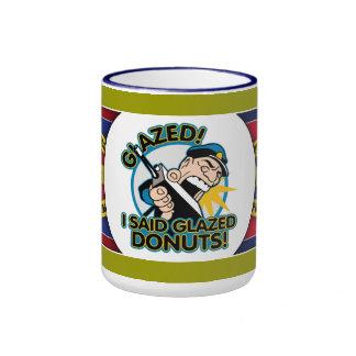 Police Glazed Donuts Ringer Mug