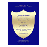 Police Graduation Invitations, Badge on Navy Personalized Announcement