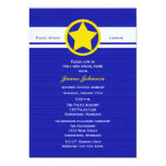 Police Graduation Invitations, Yellow Police Badge 5x7 Paper Invitation Card