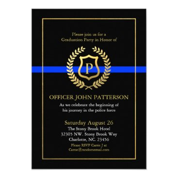 retirements Police Graduation | Retirement Themed Monogram Card