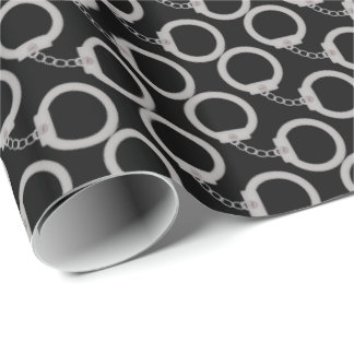 Police Hand cuffs wrapping paper