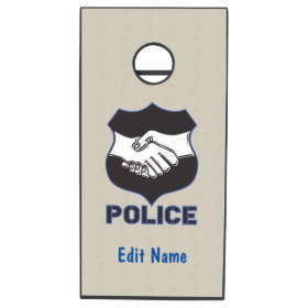 Police Hand Shake Cornhole Sets