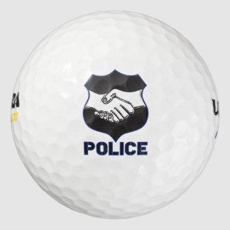 Police Hand Shake Pack Of Golf Balls
