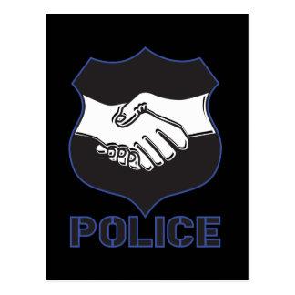 Police Hand Shake Postcard