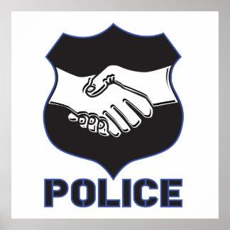 Police Hand Shake Poster