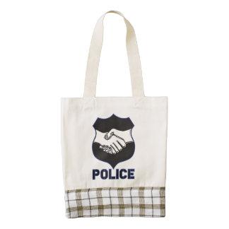 Police Hand Shake Zazzle HEART Tote Bag