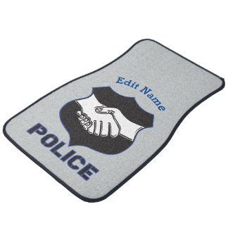 Police Hand Shake Car Mat