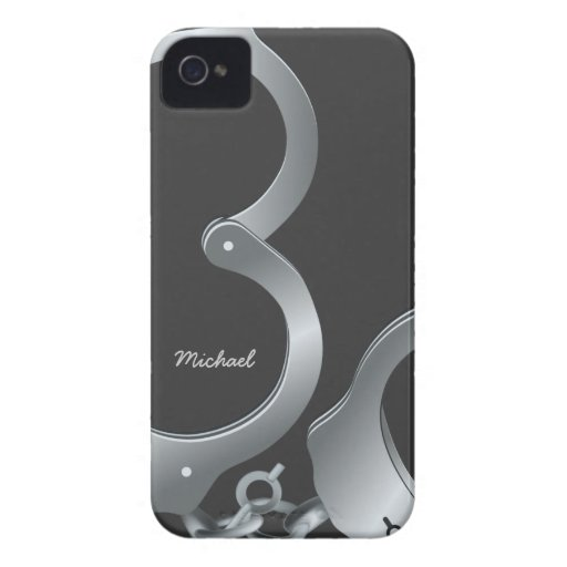 Police Handcuff iPhone 4 Case-Mate Cases