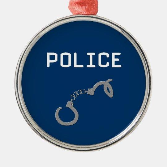 Police Handcuffs Metal Ornament