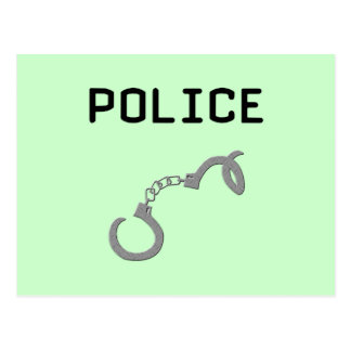 Police Handcuffs Postcard