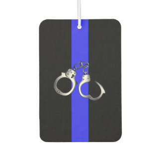 Police Handcuffs Thin Blue Line Car Air Freshener