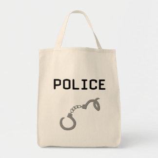 Police Handcuffs Tote Bag