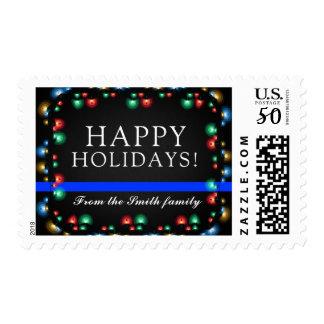 Police Happy Holidays   Christmas Custom Postage