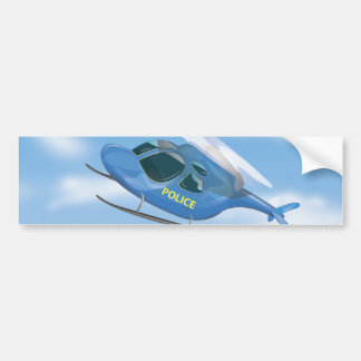 Police Helicopter Bumper Sticker