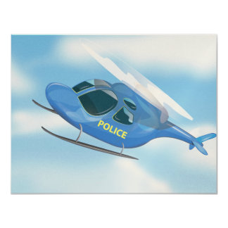 Police Helicopter Card