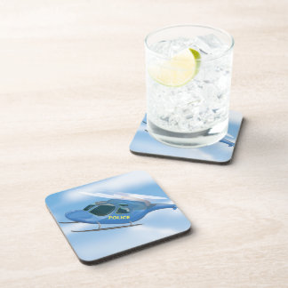 Police Helicopter Drink Coaster