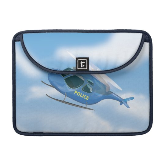 Police Helicopter Sleeve For MacBook Pro