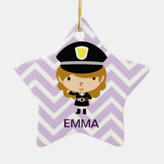 Police Highway Patrol or Traffic Controller Ceramic Ornament