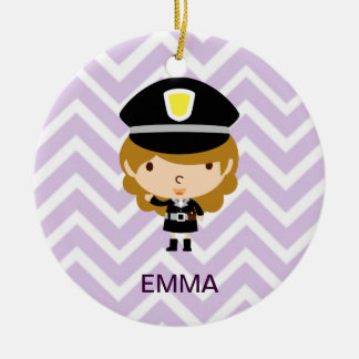 Police Highway Patrol or Traffic Controller Ceramic Ornament