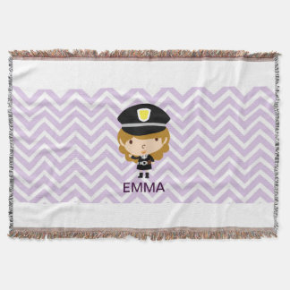 Police Highway Patrol or Traffic Controller Throw Blanket