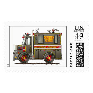 Police Homeland Security Command Truck Stamps