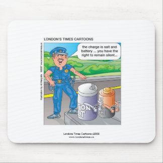 Police Humor Assault & Battery Funny Mouse Pad