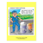 Police Humor Assault & Battery Funny Postcards Post Cards