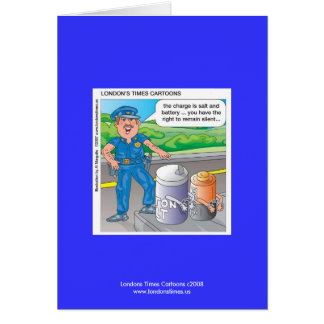 Police Humor Assault & Battery Greeting Card Greeting Card