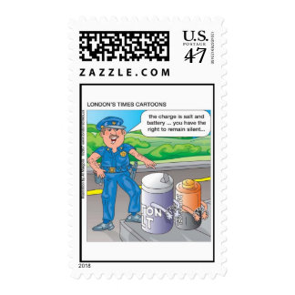 Police Humor Assault & Battery Postage Stamps
