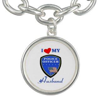 Police Personalized Jewelry Charm Bracelet