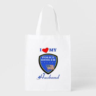 Police Husband Reusable Grocery Bag