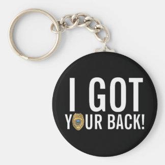 Police: I Got Your Back! Keychain