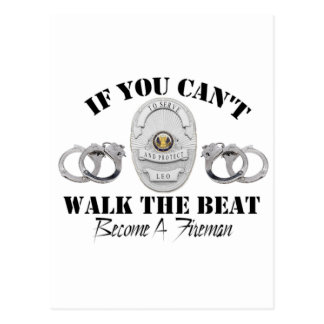 Police If you Can t Walk the Beat Postcard