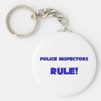 Police Inspectors Rule! Basic Round Button Keychain