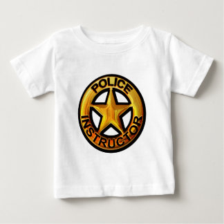 Police Instructor Badge Baby T-Shirt