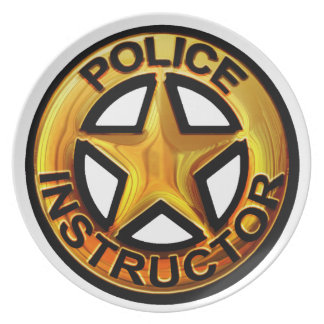 Police Instructor Badge Plate