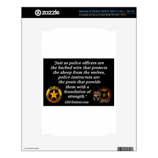 Police Instructor Quote NOOK Decal
