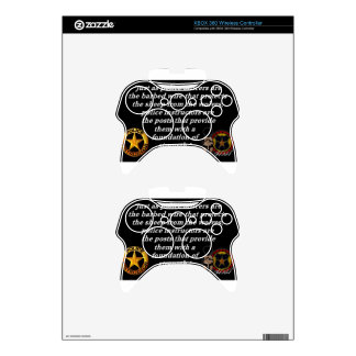 Police Instructor Quote Xbox 360 Controller Decal