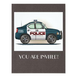 Police Interceptor Car Cop Car 4.25x5.5 Paper Invitation Card