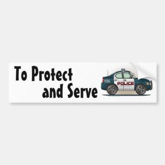 Police Interceptor Car Cop Car Bumper Sticker