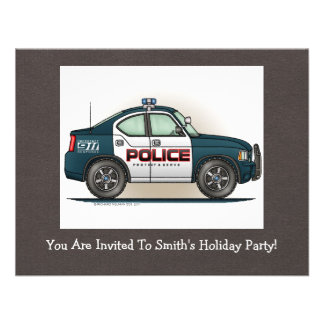 Police Interceptor Car Cop Car Invite