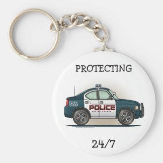Police Interceptor Car Cop Car Keychain