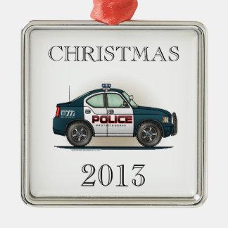 Police Interceptor Car Cop Car Christmas Tree Ornament