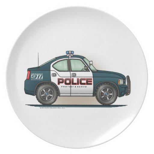 Police Interceptor Car Cop Car Party Plate