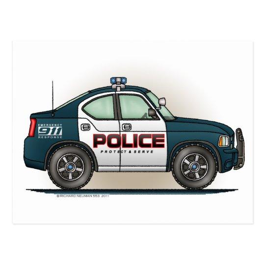 Police Interceptor Car Cop Car Postcard