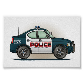 Police Interceptor Car Cop Car Poster