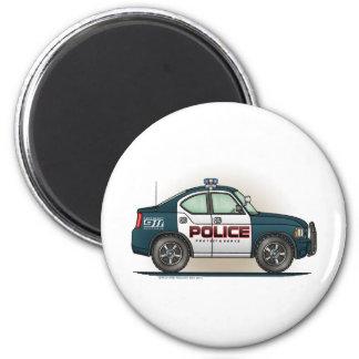 Police Interceptor Car Cop Car Round Magnet