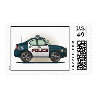 Police Interceptor Car  Postage Stamp